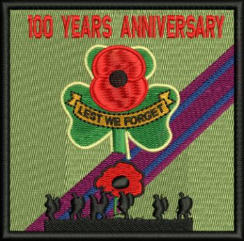 Lest We forget Poppy/Solider 100 years Embroidered Badge